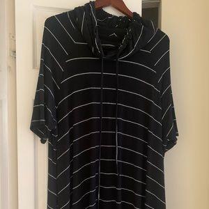 22/24 Lane Bryant black&white striped dress